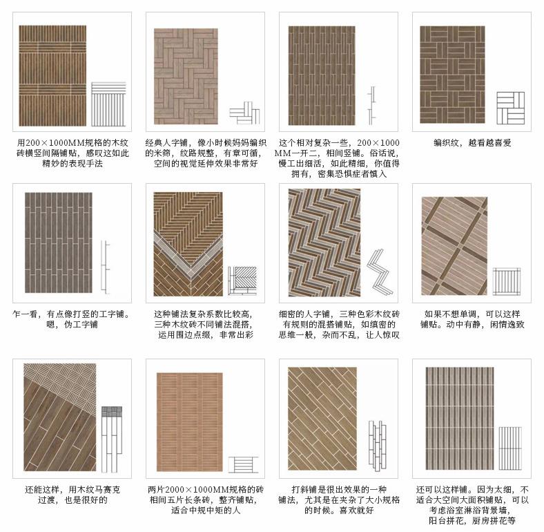 木紋磚鋪設方法
