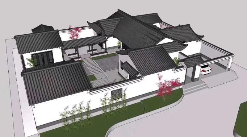 青砖青瓦四合院模型.jpg